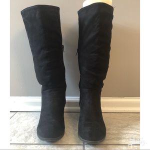 Black Felt Boots Charlotte Rousse